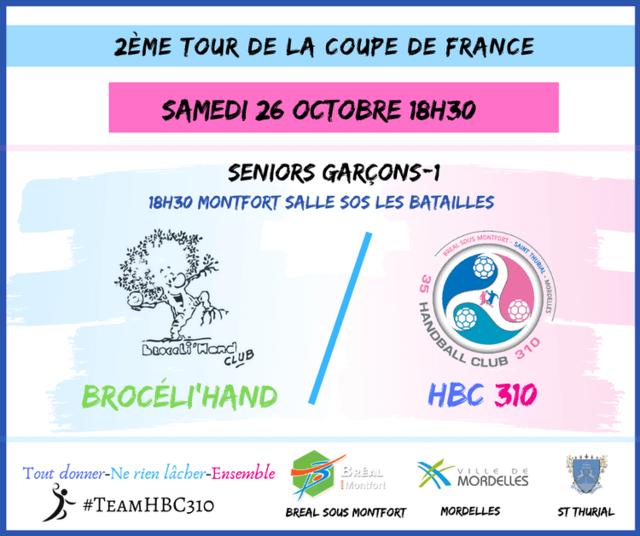 2ème tour de coupe de France-Seniors masculins