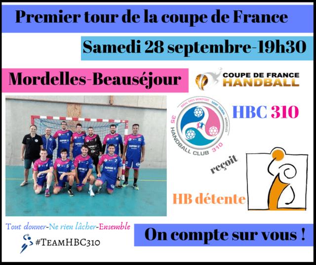 Tous à Mordelles pour soutenir les seniors en coupe de France !