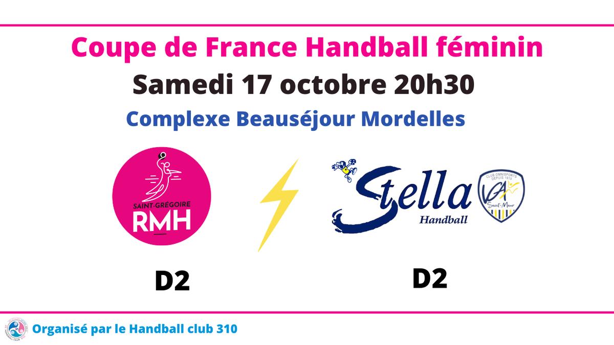 Match de Coupe de France à Mordelles organisé par le HBC 310 !!